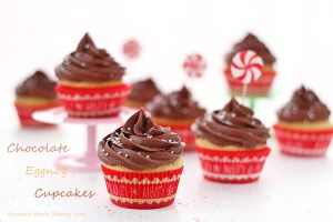 eggnog cupcakes with chocolate cream-cheese frosting recipe roxanashomebaking 1