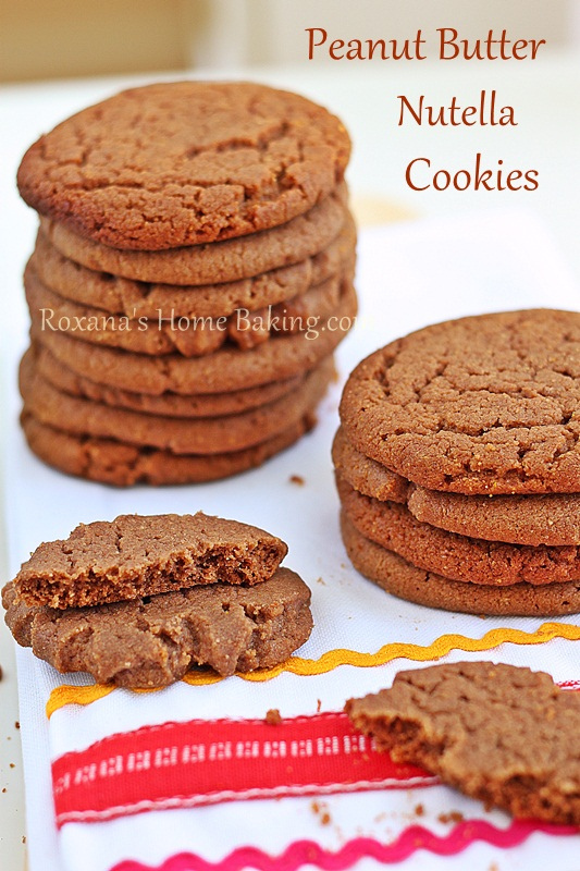 Peanut Butter Nutella Cookies recipe