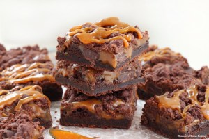 chewy chocolate caramel bars recipe