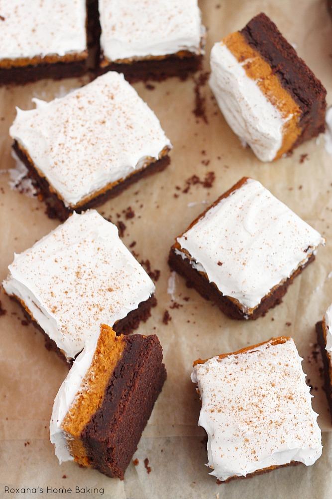 Chocolate pumpkin bars recipe