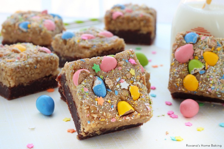 Peanut butter cookie dough topped brownies recipe