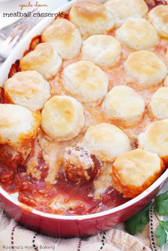 Upside down meatball casserole recipe