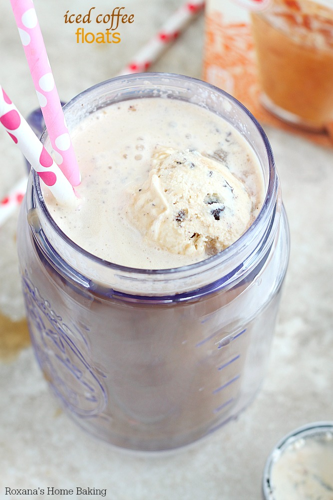 Create the most irresistible summer treat in less than 5 minutes. Iced coffee floats! No soda required!