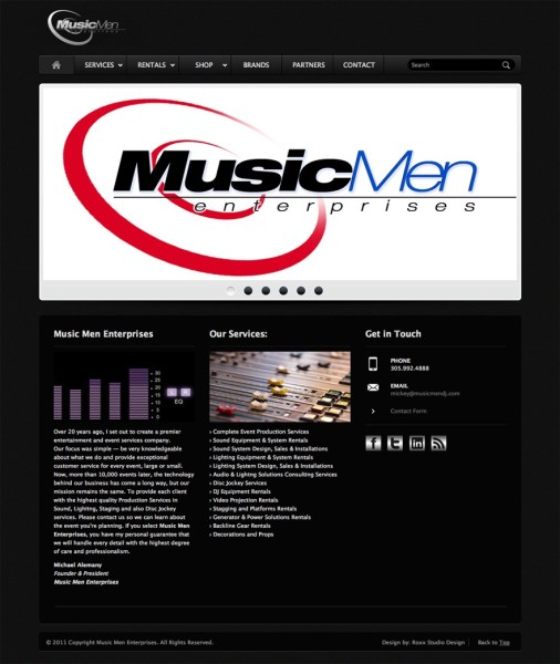 Music Men Enterprises Website