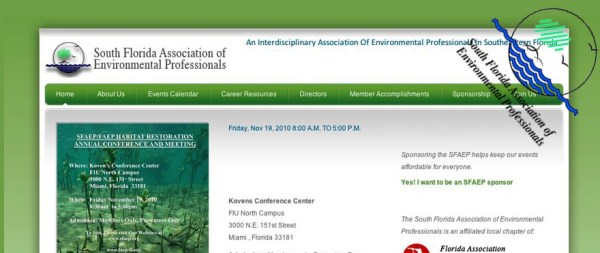 South Florida Association of Environmental Professionals Website – SFAEP