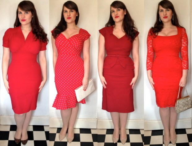 red dress montage