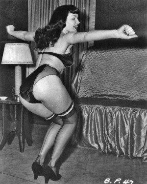 Bettie Page big knickers