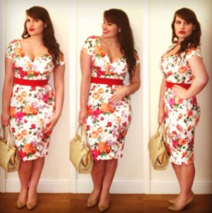 Roxy Vintage Style ASOS floral pencil dress