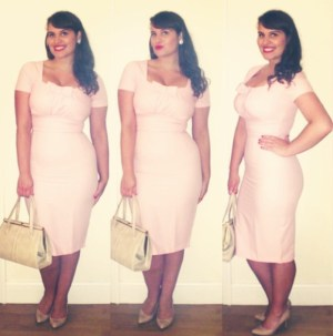 Roxy Vintage Style pink Dolly Dapper dress