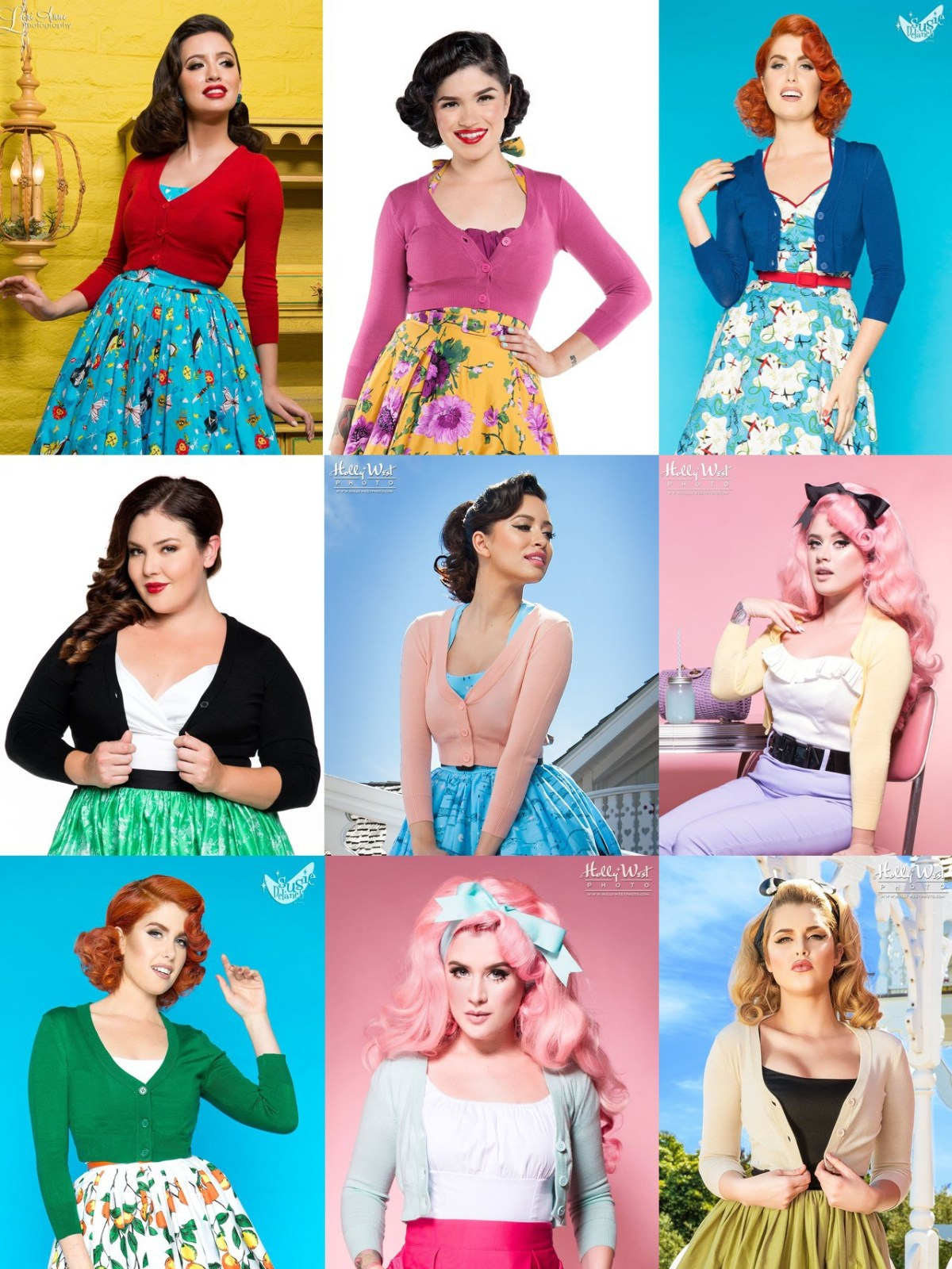 cropped cardigan guide for pinup fashion