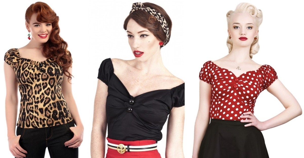 pinup style retro vintage tops Collectif