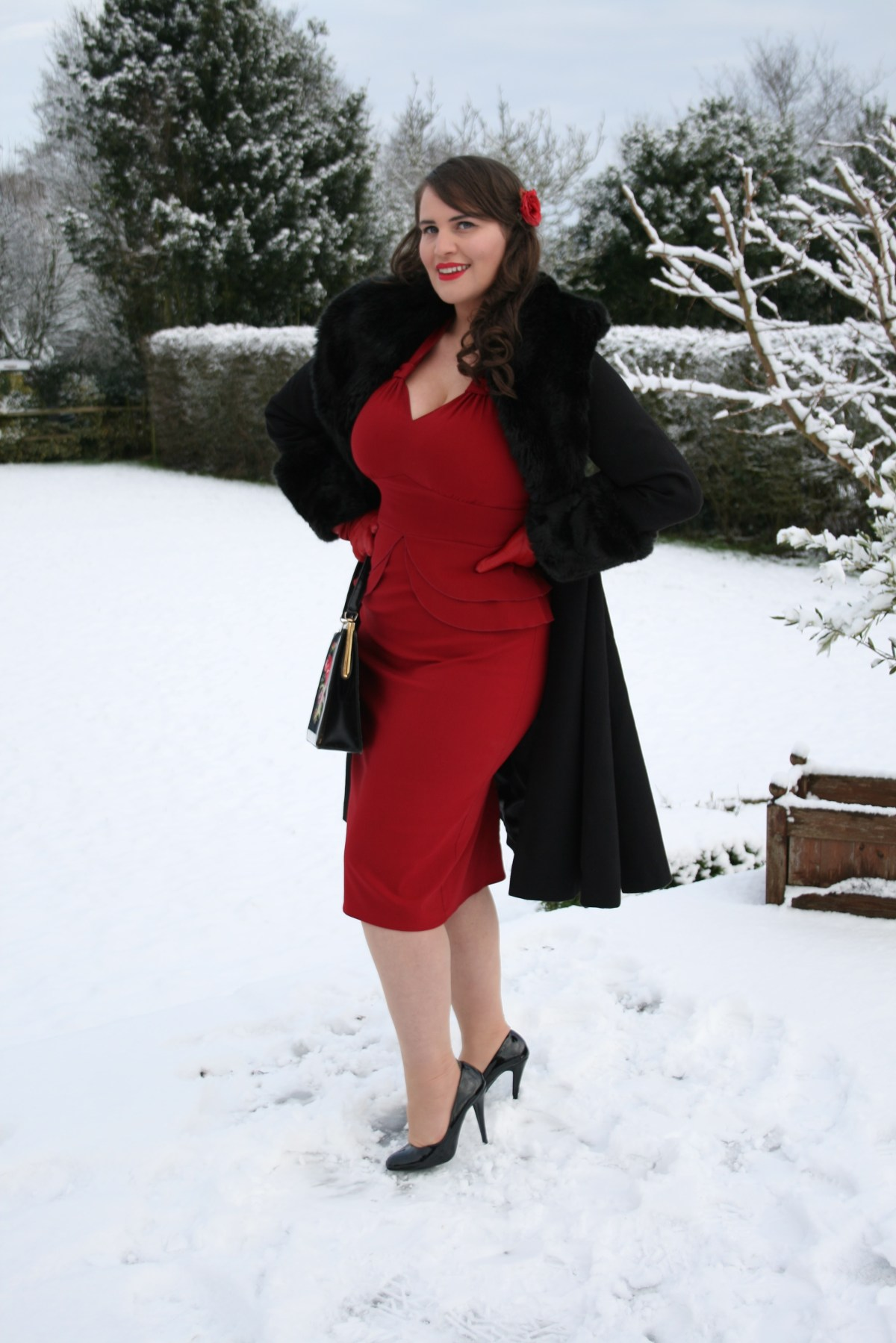 vintage style coat by Hell Bunny