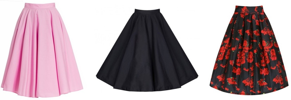 pinup style circle skirts Lindy Bop