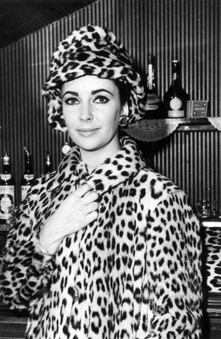 winter pinup fashion Elizabeth Taylor