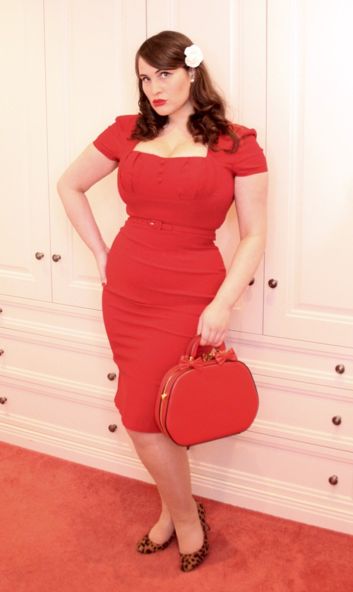 Pinup Girl Clothing red Charlotte dress (1)