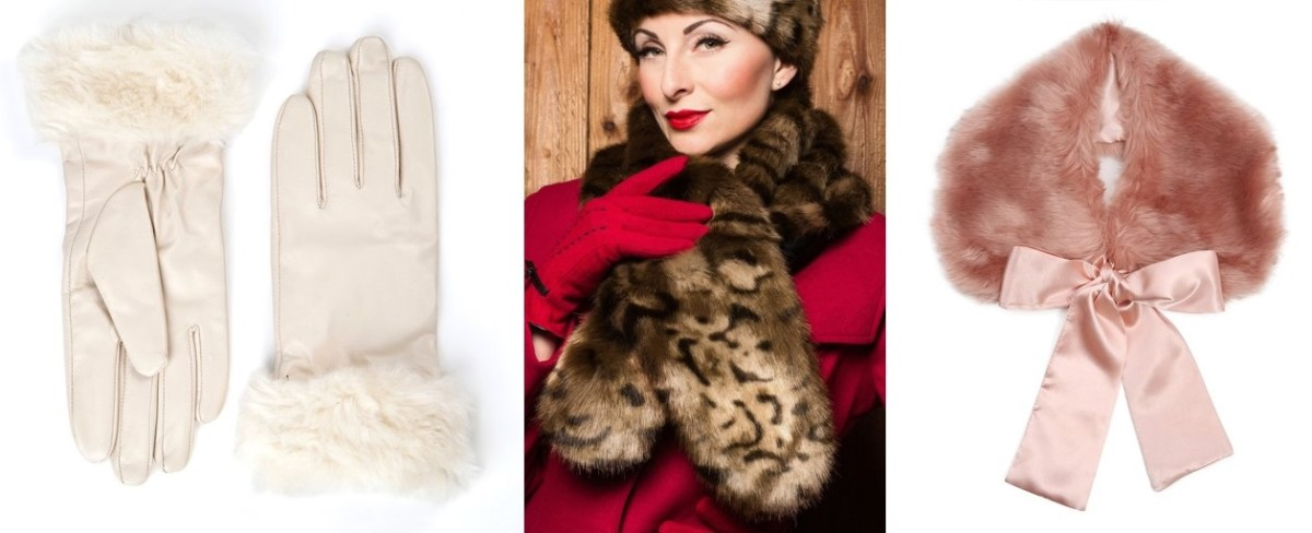 winter pinup fashion faux fur
