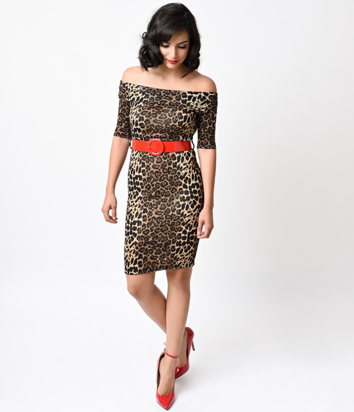 unique vintage leopard dress
