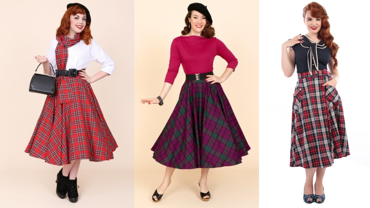 winter pinup fashion skirts