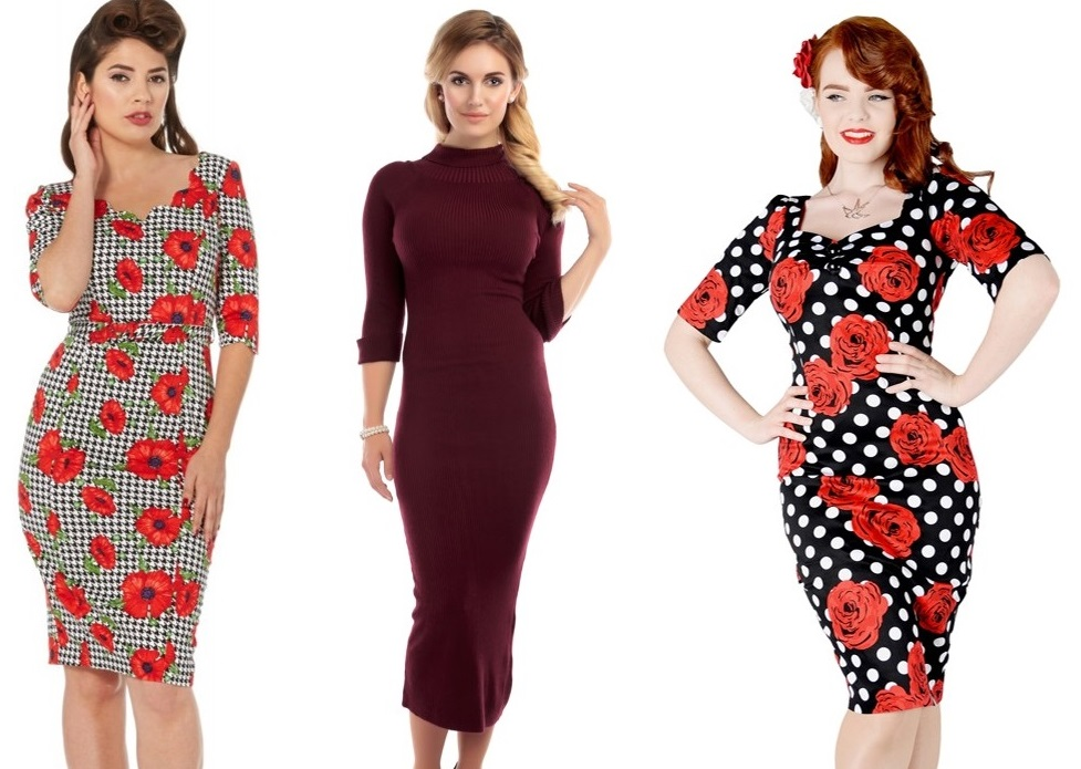 winter pinup fashion dresses