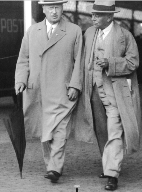 1936: Wilheim Rudeloff, Chairman of Shell in Germany and right, Sir Henri Deterding, founder of Royal Dutch Shell Group
