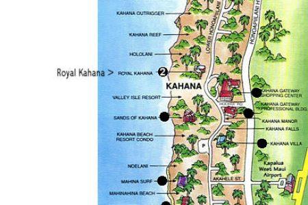 map of kaanapali beach