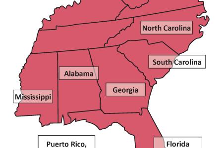southeast image ed 67resilienestratifiedsettingandecoregionwithorverridese southeast map