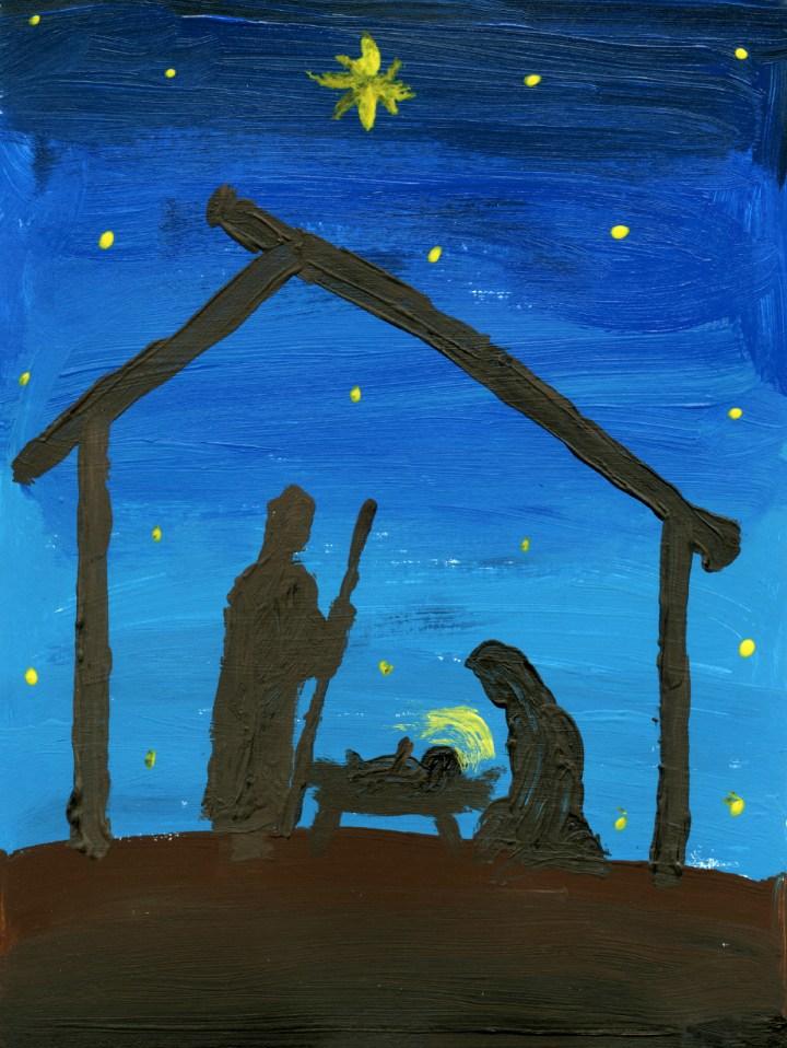 ... KB 183 Jpeg Christmas Nativity Scene Painting.Lds Primary Talks 2015