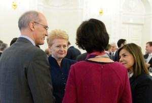 Президент Литовской Республики Даля Грибаускайте встретилась с аккредитованными в Литве послами иностранных государств