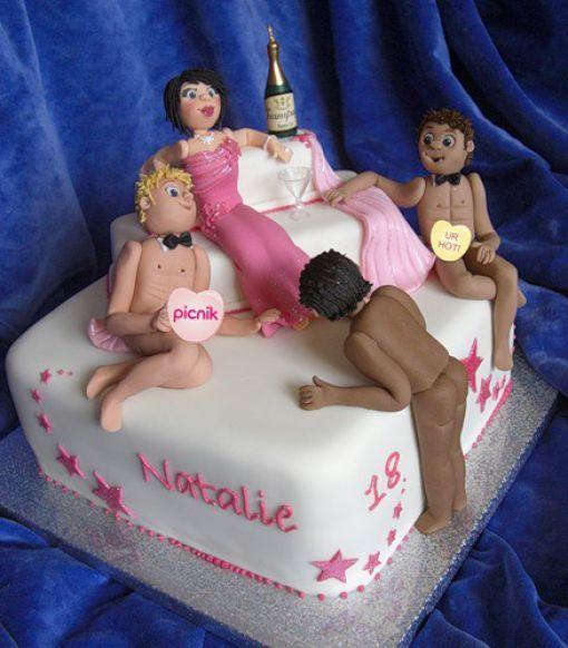 Торты на день рождения смешные