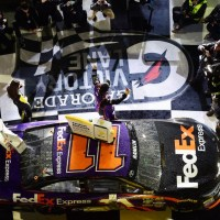 NSCS: Denny Hamlin Wins Third Sprint Unlimited