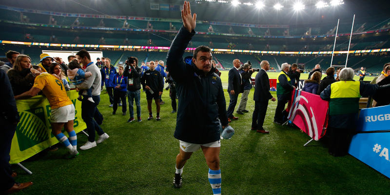 during the 2015 Rugby World Cup Semi Final match between Argentina and Australia at Twickenham Stadium on October 25, 2015 in London, United Kingdom.