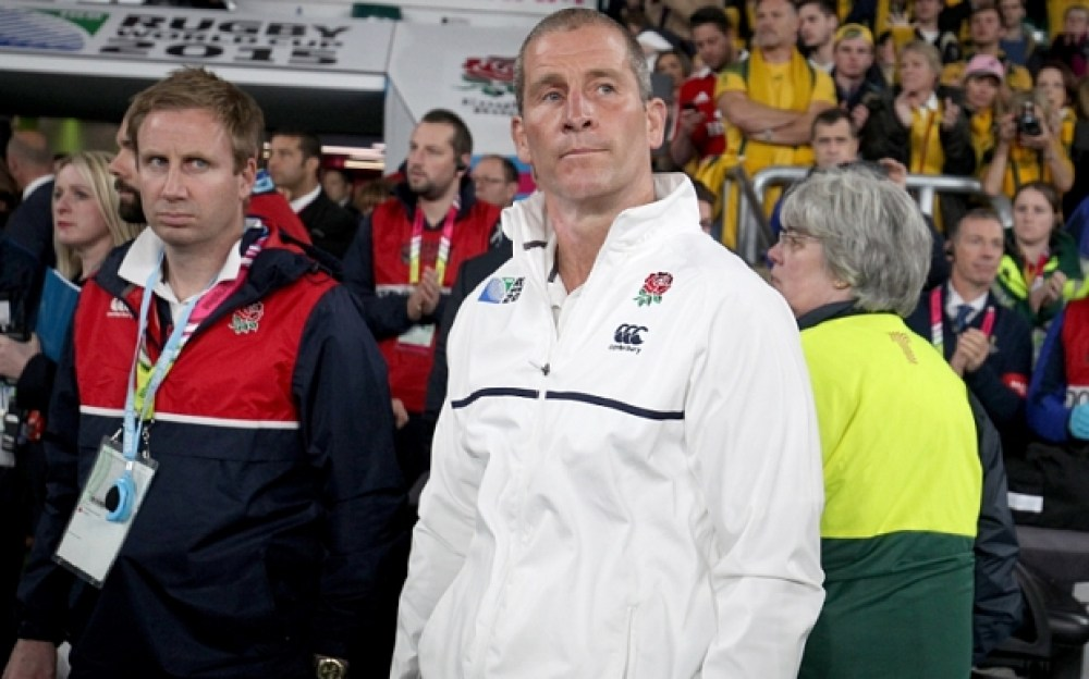 Mandatory Credit: Photo by Matthew Impey/REX Shutterstock (5212691y)  Stuart Lancaster the England head coach at full time.  England v Australia, Rugby World Cup, Rugby Union, Twickenham, Britain - 10/03/2015