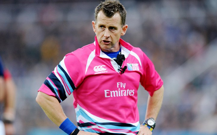 Mandatory Credit: Photo by David Gibson/Fotosport/REX Shutterstock (5212640ce) Nigel Owens - Referee (Wales). Scotland v South Africa, Rugby World Cup, Pool B, St James' Park, Newcastle, England, Saturday 3 October 2015 ***PLEASE CREDIT: FOTOSPORT/DAVID GIBSON*** South Africa v Scotland, IRB Rugby World Cup Poolb, Rugby Union International, St James's Park, Newcastle, Britain - 03 Oct 2015