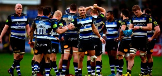 during the Aviva Premiership match between Bath Rugby and Worcester Warriors at the Recreation Ground on December 27, 2015 in Bath, England.