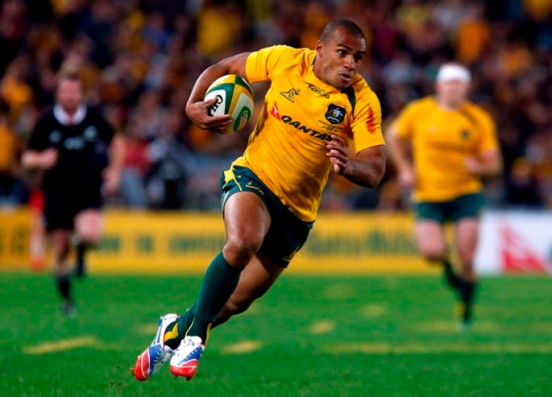 Australian Wallabies' Genia runs to score a try during the Bledisloe Cup rugby test match against the New Zealand All Blacks in Sydney
