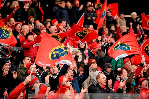 Watch: Spine Tingling Moment As Munster Fans Sing Stand Up & Fight