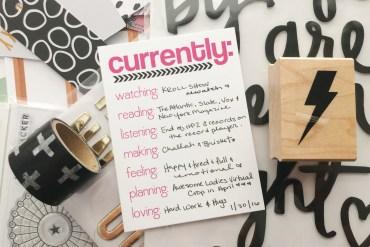 rukristin Currently List Journaling Challenge