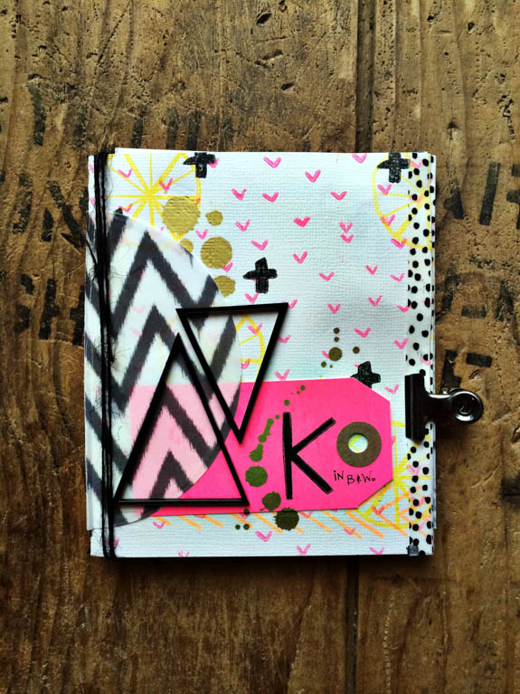 rukristin DIY Neon Stitched Art Journal Mini-Album