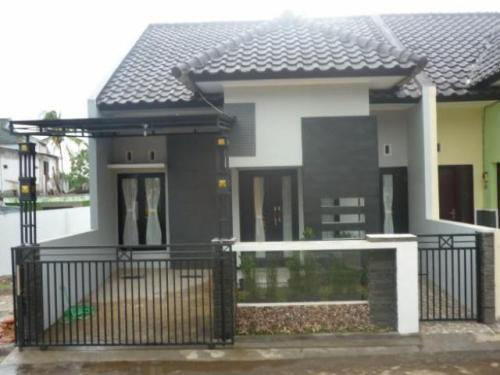 model pagar rumah minimalis type 36