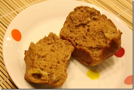 IMG 1396 thumb Banana Peanut Flour Muffins