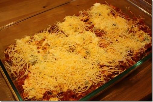 IMG 6682 thumb Meatless Monday– Winging it Lasagna