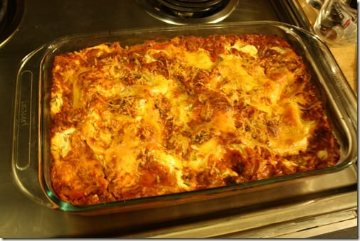 IMG 6686 thumb Meatless Monday– Winging it Lasagna