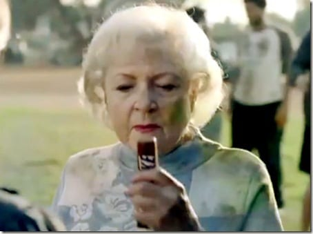 Betty White with snickers thumb Dealing With A Bad Race