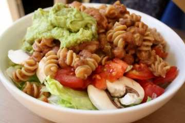 Refried Bean Pasta Lunch