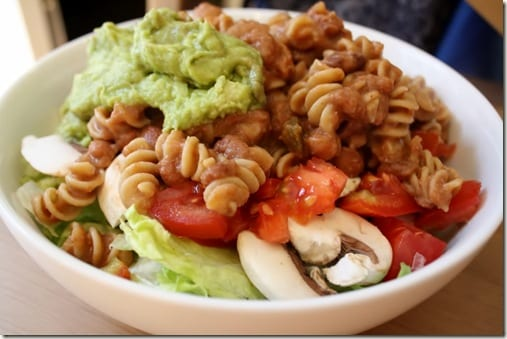 IMG 0236 1024x683 thumb Refried Bean Pasta Lunch