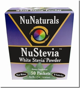 NuStevia 50 Packets Top Angle thumb Sweet Sticker Sighting