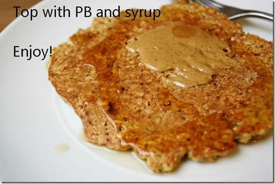 pb on pancake thumb Easiest Pancake Recipe Ever.