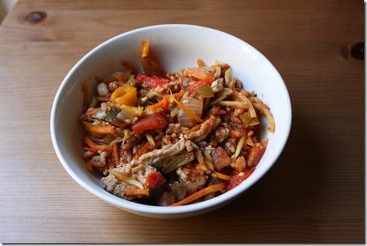 IMG 7856 800x533 thumb Ground Turkey Broccoli Slawghetti Crock Pot Recipe