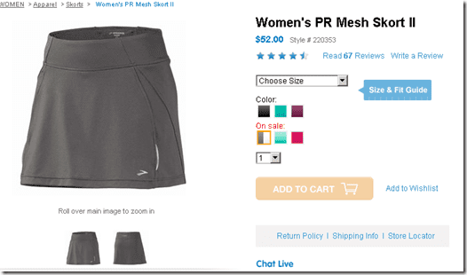 image thumb9 Brooks Running Skirt Review and Giveaway
