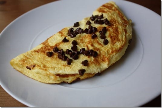 IMG 1559 1024x683 thumb Sweet Omelet with Chocolate Chips Recipe